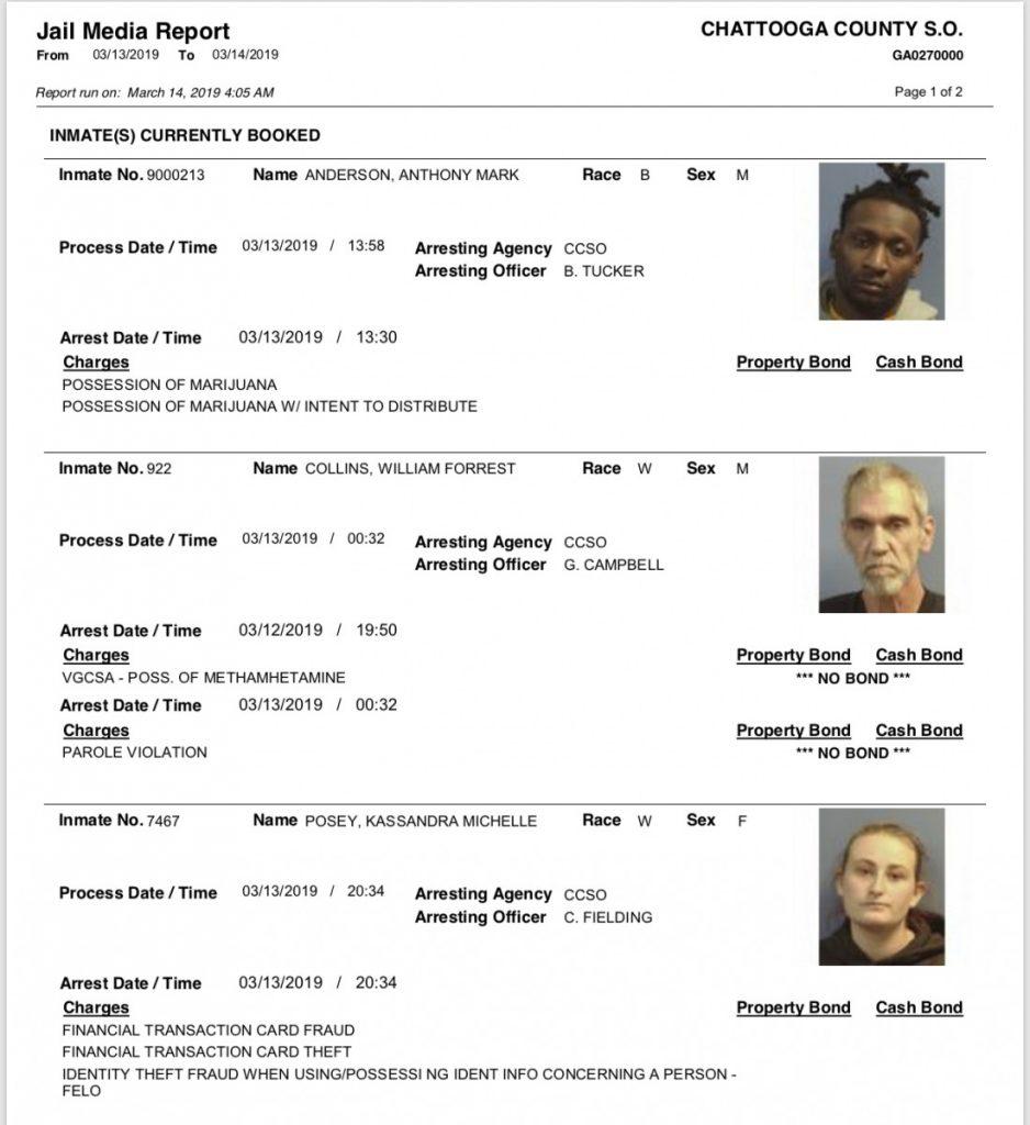 Thursday's Arrest Report – The Summerville News