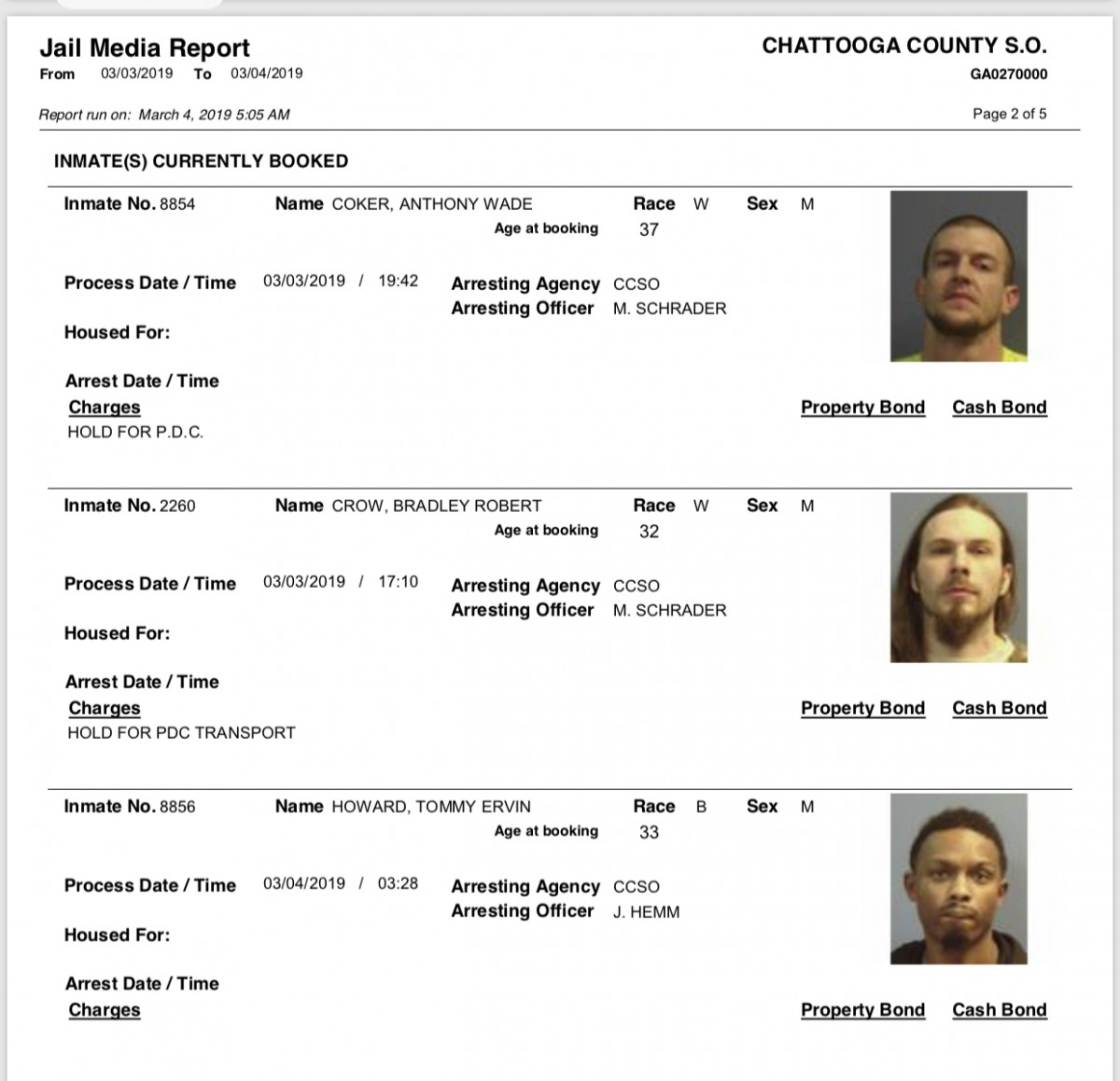 Monday U2019s Arrest Report U2013 The Summerville News