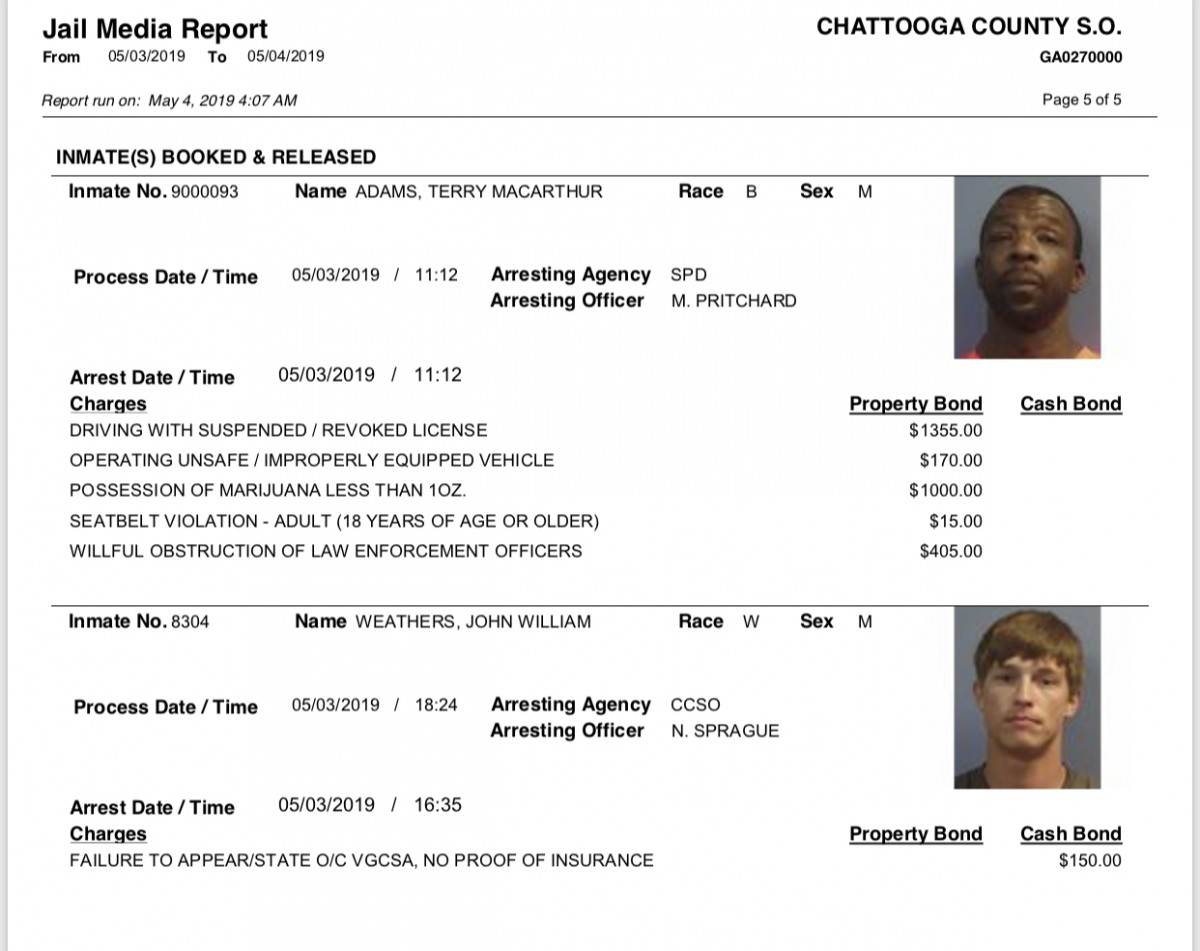 Saturday U2019s Arrest Report U2013 The Summerville News