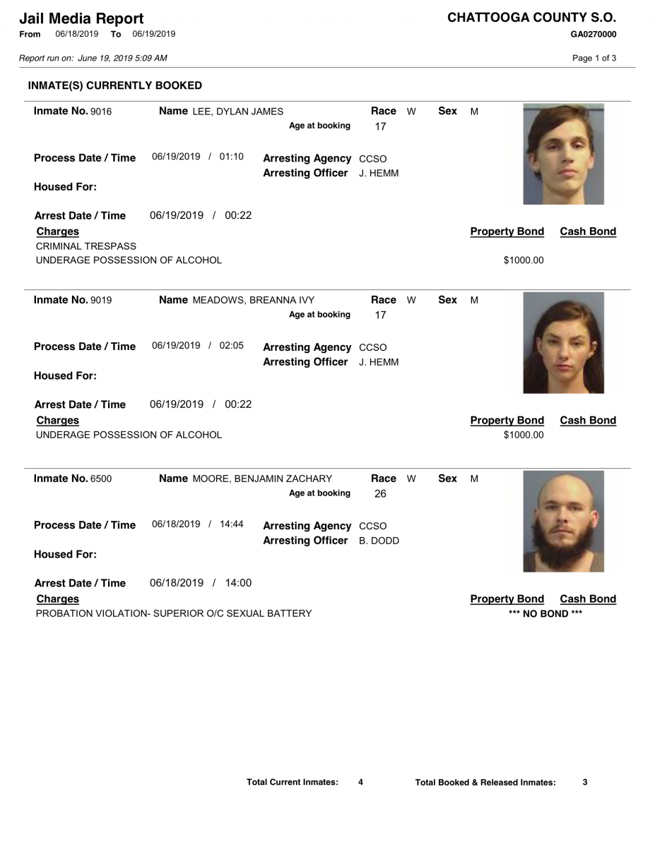 Wednesday U2019s Arrest Report U2013 The Summerville News