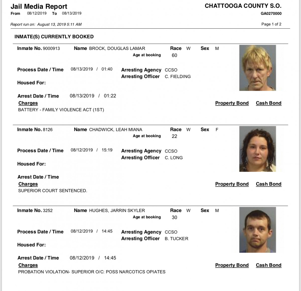 Tuesday U2019s Arrest Report U2013 The Summerville News