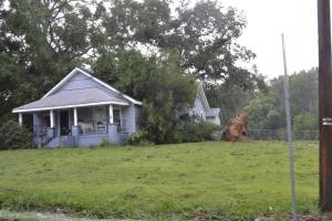 Tree destroys Back Penn Road home. Etheridge Family spared from injuries.