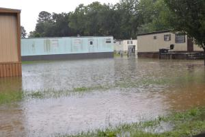 Mobile home owners suffer from high water on Ramey Street