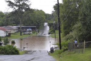 Bitting Avenue turns into a lake.