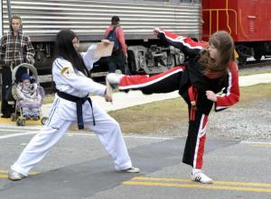 Julia Hogan 11 red strip belt will be testing for black belt soon