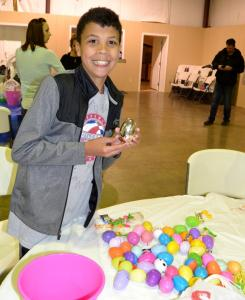 Aaron Long has a prize egg